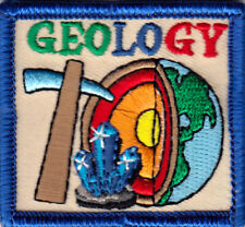 """GEOLOGY"" Iron On Embroidered Patch/School, Learning, Research"