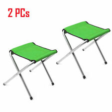2 PCs Portable Folding Stool Camping Chair Outdoor Hiking Fishing Beach Seat