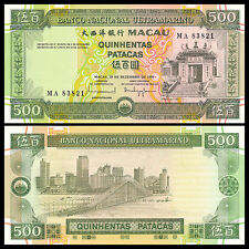 Macau Macao 500 Patacas, BNU ,1999, P-74, Banknote, UNC