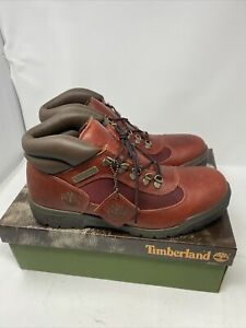 Vintage Timberland Men's Field Boots 37088 Embossed Brown RARE NEW Sz 10.5