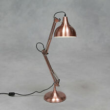 Vintage Copper Retro Desk Lamp Table Angle Multi Poise Posable Metal Brass NEW