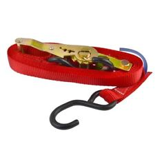 Red Ratchet Strap Tie Down Trailer 4m Hook Cargo Strap 325kg Lashing SM013