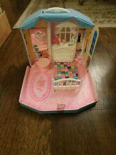New listing Vtg Rare Lisa Doll Takara Blue Bedroom Playset House Case & Furniture Japan Guc