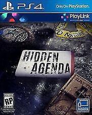 Hidden Agenda - PlayStation 4 (PS4) *BRAND NEW