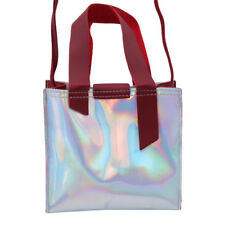 Women Laser Transparent Shoulder Bag Tote Jelly Summer Beach Handbag SI