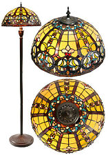 """18"""" Traditional Victorian Style Leadlight Stained Glass Tiffany  Floor Lamp"""