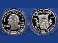 Silver PESETA SABANA GRANDE 2009 Puerto Rico Boricua Quarter 1/100 Plata