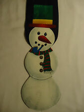 """Jolly Holly Black Red White Green Christmas Snowman Tie 56"""""""
