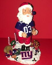 FOREVER COLLECTIBLES NFL LEGENDS OF THE FIELD SANTA BOBBLEHEAD NEW YORK GIANTS