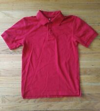Boys Chaps Approved Schoolwear Polo Red Short Sleeve Medium 10/12