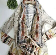 Freeway Anthropologie Womens Small Boho Cardigan Sweater Long Sleeve Open Front