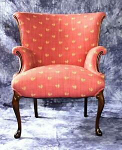Queens Anne Style Upholstered Armchair Chair Bergere Loveseat Sofa Bed Fauteuil