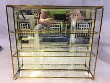 Large Franklin Mint House of Faberge, Imperial Egg Collection glass Display case