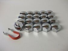 Ford Fiesta Focus & C-Max Mondeo Wheel Nut Covers (19mm Chrome) (PE1322)