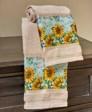 Set of 2 Sunflower Hand Towels Country Farmhouse Floral Bathroom Kitchen Decor