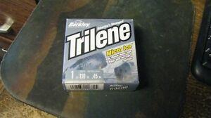 "Berkley Trilene ""micro ice"" line, 110 yards, clear,  1# test,  free shipping"