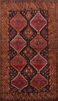 Vintage Traditional Lori Hand-knotted Area Rug Geometric Oriental Carpet 5'x8'