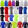 Mens Vest Compression Base Layer Gym Sport Fitness Gym Tight  T-Shirt Vest Tops