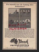 RATHENOW, Werbung 1936, Emil Busch AG hochjustierte Prismengläser