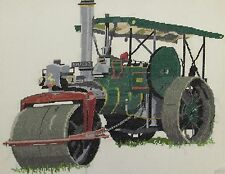 Aveling & Porter Steam Roller counted cross stitch kit/chart 14s aida