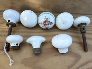 Vintage old Antique Ceramic White Door Knob Handle 1 singular...8 available