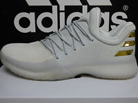 NEW Adidas Harden Vol 1 MVP Size 8.5 James PE Boost White Gold UNRELEASED BNIB