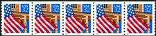 Flag Over Porch W/A Dated Red 1995 Shiny Gum PNC5 PL 11111 Scott's 2913