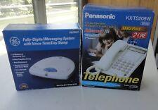2 New Box Panasonic KX-TS208W Integrated Telephone GE Answering Machine 29878GE1