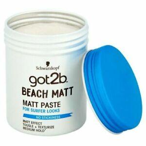 Schwarzkopf Fixing Matt Paste Got2b Beach Boy Medium Fixation Hairstyles 100ml