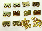 WWI WWII BRASS Hardware suitable for P08 P37 Webbing Set ENDS / TIPS set of 10
