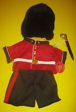 New BUILD-A-BEAR PALACE GUARD COSTUME International OUTFIT UK Exclusive London