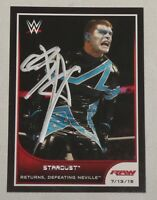 Stardust Cody Rhodes Signed WWE 2016 Topps Road to Wrestlemania Card #59 Auto'd