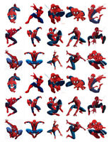 SPIDERMAN 30 BIRTHDAY EDIBLE STAND UP CAKE TOPPERS PREMIUM WAFER CARD