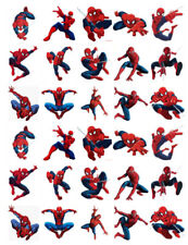 Spiderman 30 Compleanno Commestibile Stand Up Cake Topper PREMIUM WAFER CARD