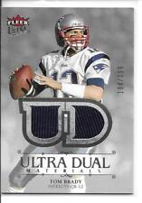 2007 Fleer Ultra Ultra Dual Materials Tom Brady Jersey Card /199