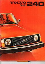 VOLVO 242/244 1977 Farben und Bezüge Auto-Prospekt Broschüre Klapp-Prospekt V52