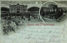 Lithographien aus Sachsen-Anhalt mit dem Thema Eisenbahn & Bahnhof