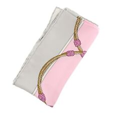 Authentic CELINE Rope Pattern Scarf Multi-Color Silk #f01629