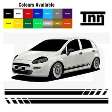 Side Stripe Stickers Vinyl Decals For Abarth Fiat Punto Evo Grande 3DR 5DR
