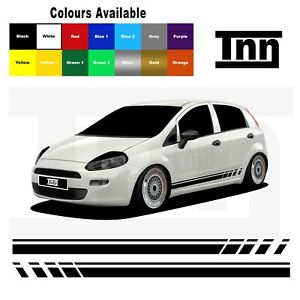 Side Stripe Stickers Vinyl Decals For Abarth Fiat Punto Evo Grande 3DR 5DR