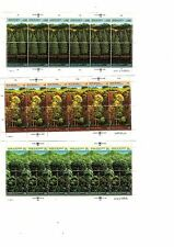 Un stamps All 3 Offices 1988 Survival of the Forests, Full Panes Set Unused Mnh