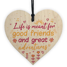 Handmade Best Friend Friendship Sign Plaque Chic Wood Heart Thank You Love Gift
