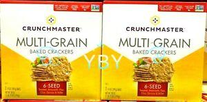 2 Packs Crunchmaster Multi-Grain 6 Seed Baked Crackers 28 oz Each, Total 56 oz