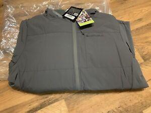 Endura Flipjack Jacket Size Large Grey, Yellow Reversable,  Primaloft New