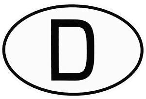 Deutschland D-Schild Kennzeichen D Schild Aufkleber 13,5 x 9 cm HR Art. 367.342