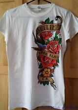 """Sublime T-Shirt """"Bird and Banner"""" Juniors Tissue Tee Size:Large New"""