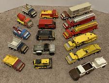 Lot of 1970'S Tonka Pressed Steel Trucks, Wreckers, Vans, Semis & Trailers