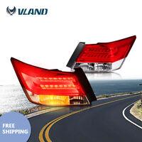 Red LED Tail Lights Rear Lamps for Honda Accord EX EX-L Sedan 2008-2012