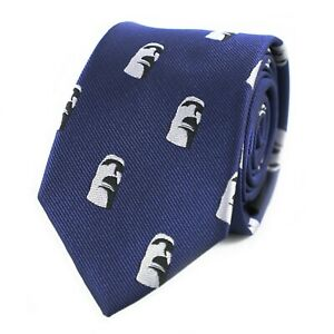 Men Novelty Statues Tie Easter Island Head Statue Pattern Necktie