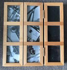 Wooden Shuji Umbra Triple Photo Frame 9 Photos